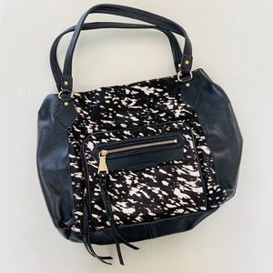 Aimee Kestenberg Leather Cow Print Shoulder Bag